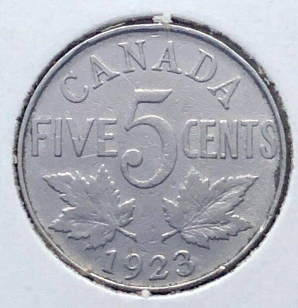 CANADA - 5 Cents 1923