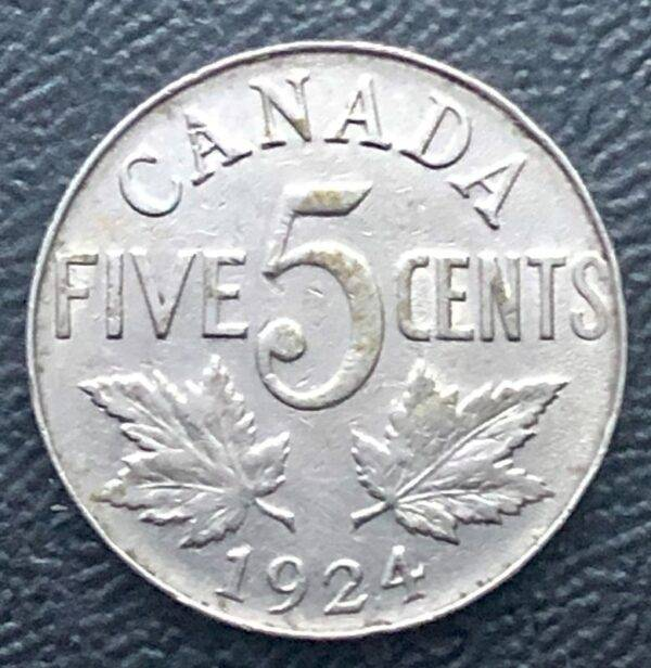 CANADA - 5 Cents 1924