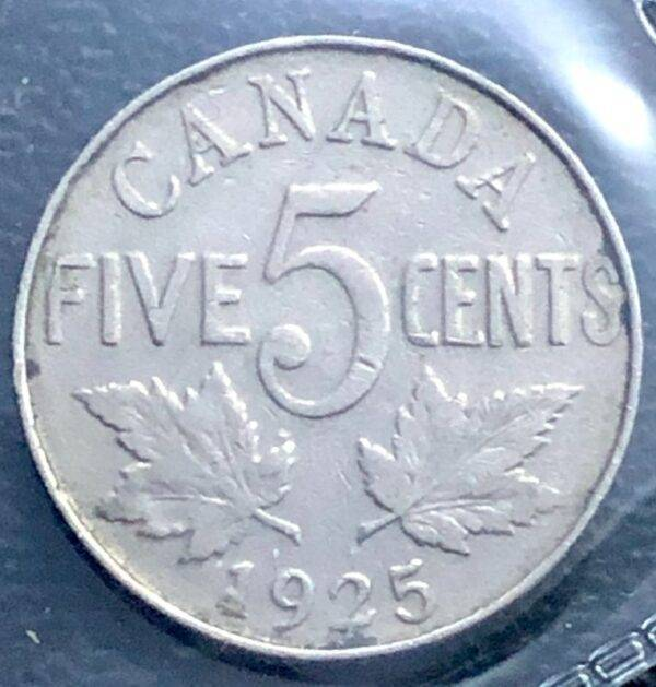 CANADA - 5 Cents 1925