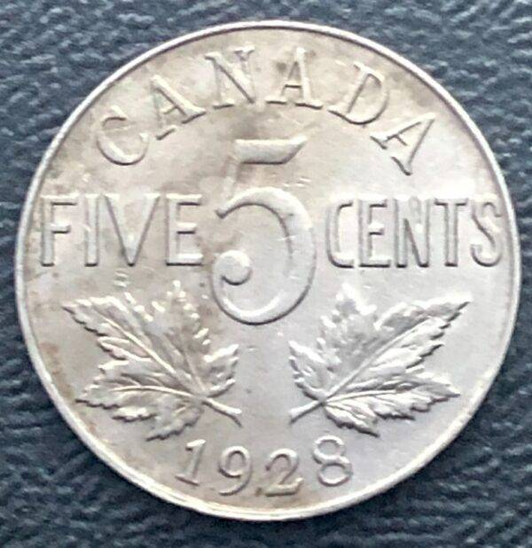 CANADA - 5 Cents 1928