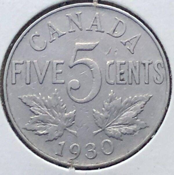 CANADA - 5 Cents 1930