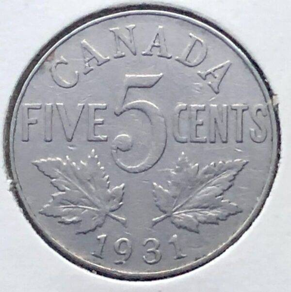 CANADA - 5 Cents 1931