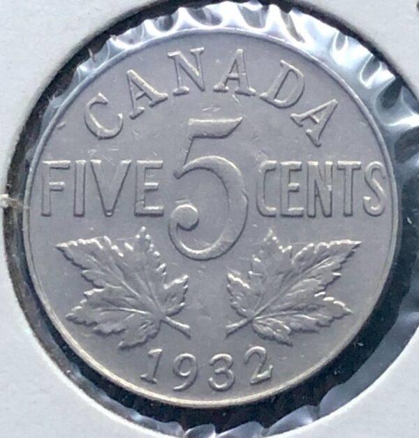 CANADA - 5 Cents 1932 Près