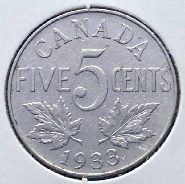 CANADA - 5 Cents 1933