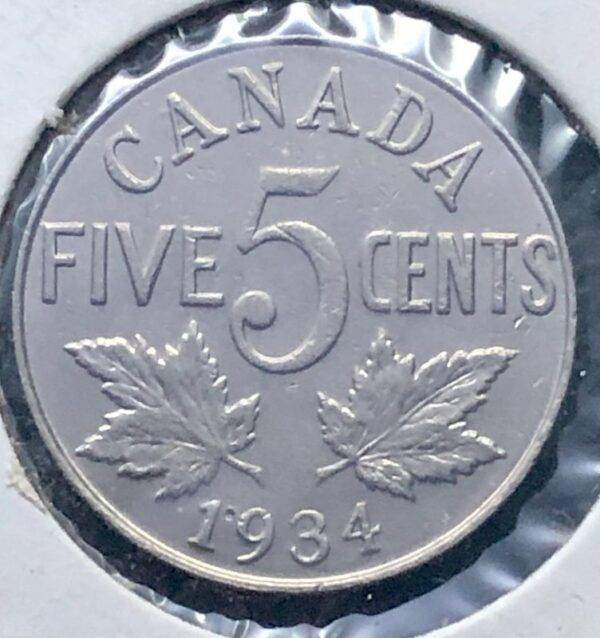 CANADA - 5 Cents 1934