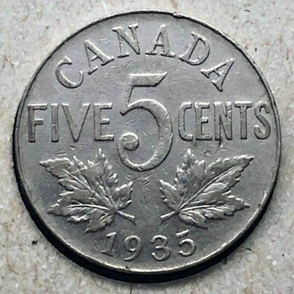 CANADA - 5 Cents 1935