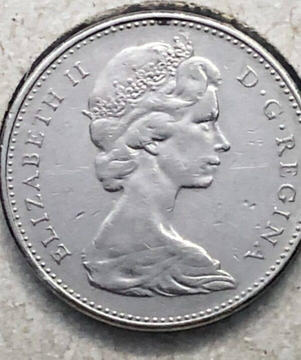 CANADA - 5 Cents 1977 - 7 Haut -