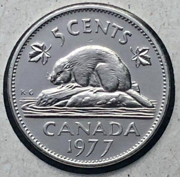 CANADA - 5 Cents 1977 - 7 Bas - B.UNC