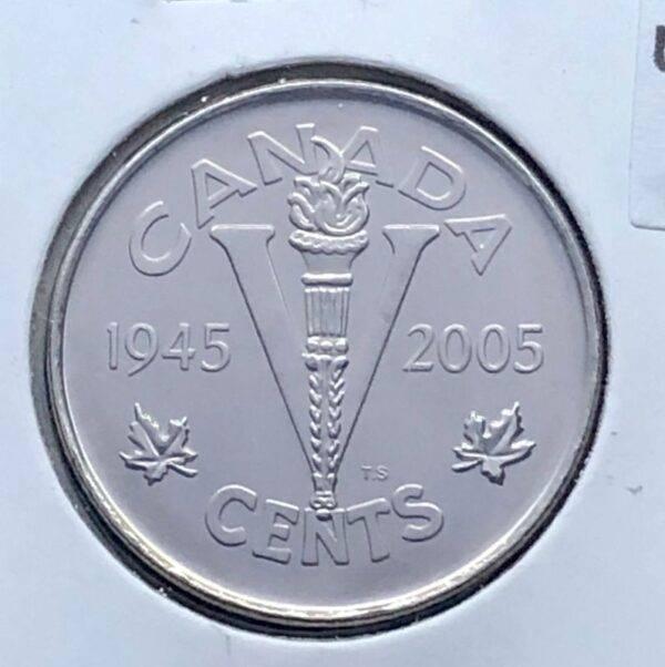 CANADA - 5 Cents 2005 - Victoire - B.UNC