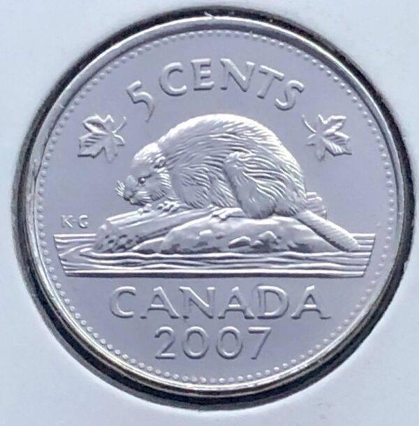 CANADA - 5 Cents 2007 - B.UNC