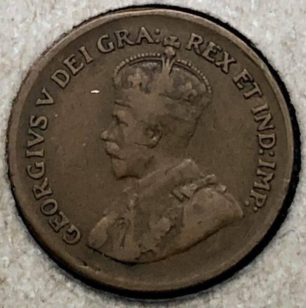 CANADA - 1 Cent 1929 - 9 Haut
