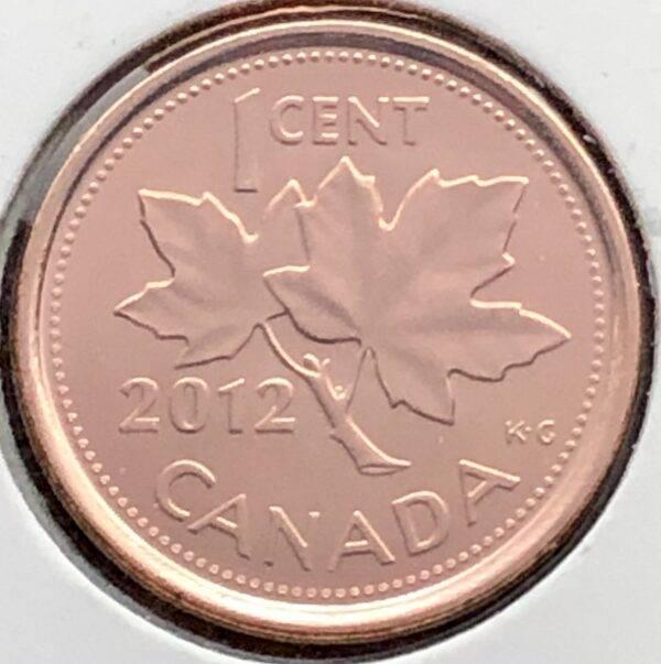 CANADA - 1 Cent 2012 - Non- Magnétique - B.UNC