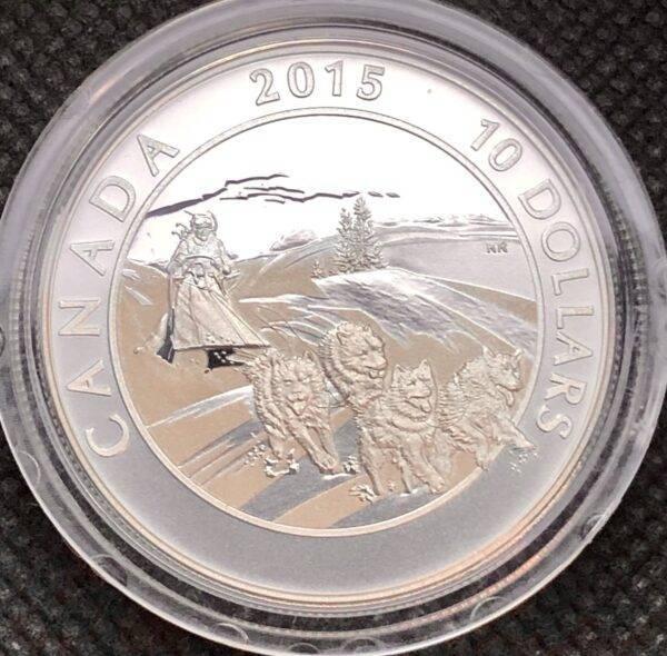 CANADA - Cinq pièces de 10$ 2015 en argent fin - Aventures canadiennes