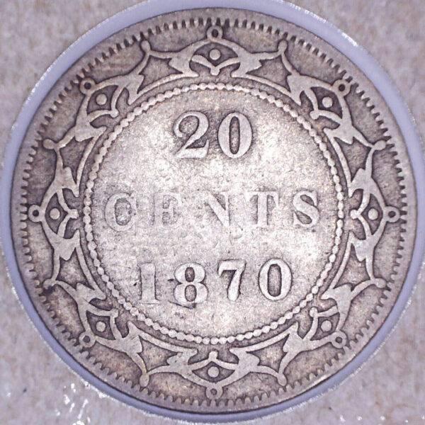 CANADA - 20 Cents 1870 - Terre-Neuve