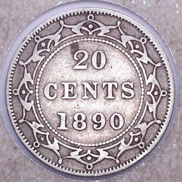CANADA - 20 Cents 1890 - Terre-Neuve