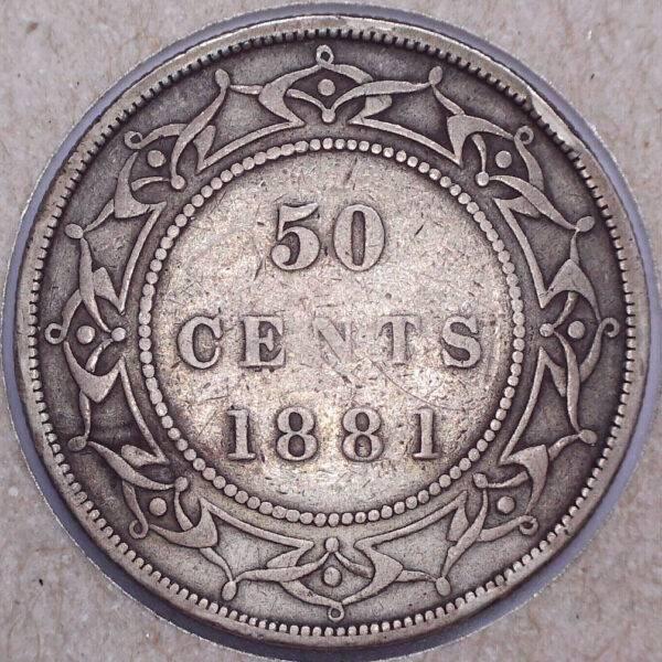 CANADA - 50 Cents 1881 - Terre-Neuve