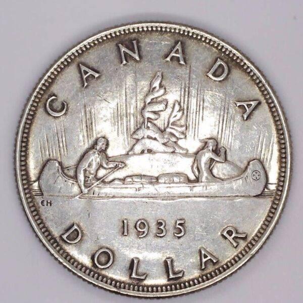 CANADA - DOLLAR 1935 - GEORGE V - EF-40