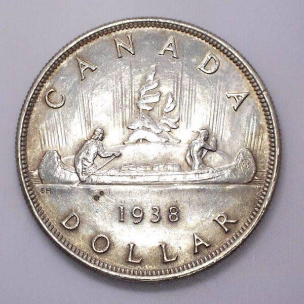 CANADA - DOLLAR 1938 - EF-40 - KEYDATE