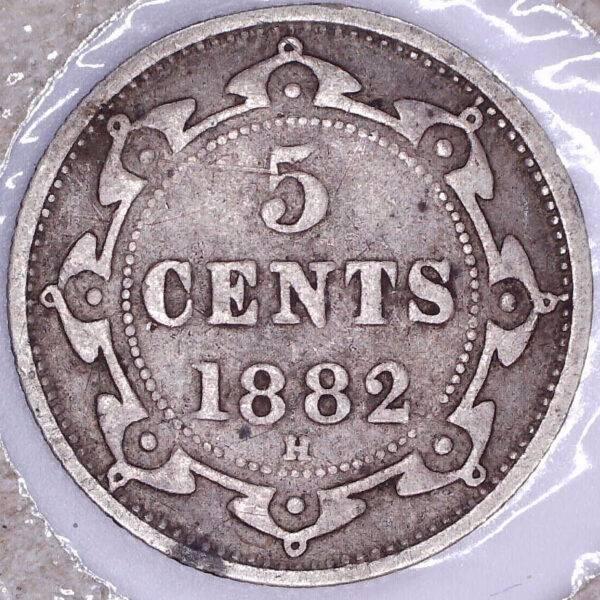 CANADA - 5 Cents 1882H - Terre-Neuve - F-12