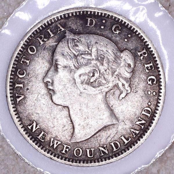 CANADA - 5 Cents 1888 - Terre-Neuve - VF-20