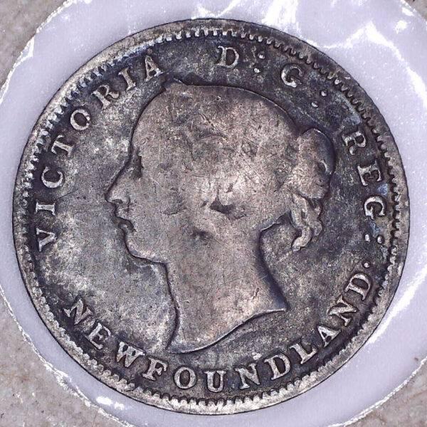 CANADA - 5 Cents 1890 - Terre-Neuve - VG-8