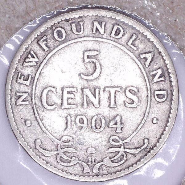 CANADA - 5 Cents 1904H - Terre-Neuve - VG-8