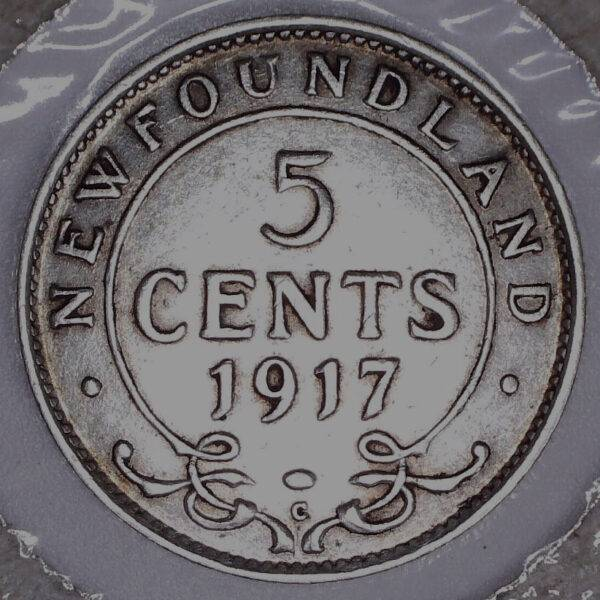 CANADA - 5 Cents 1917C - Terre-Neuve - VF-30