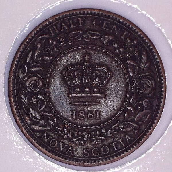 CANADA - Half Cent 1861 - Nouvelle-Écosse