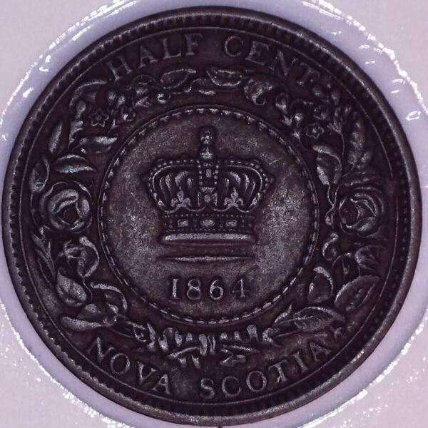 CANADA - Half Cent 1864 - Nouvelle-Écosse - VF-20