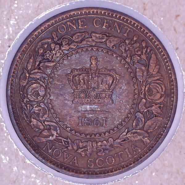 CANADA - 1 Cent 1861 - Large Rosebud - Nouvelle-Écosse