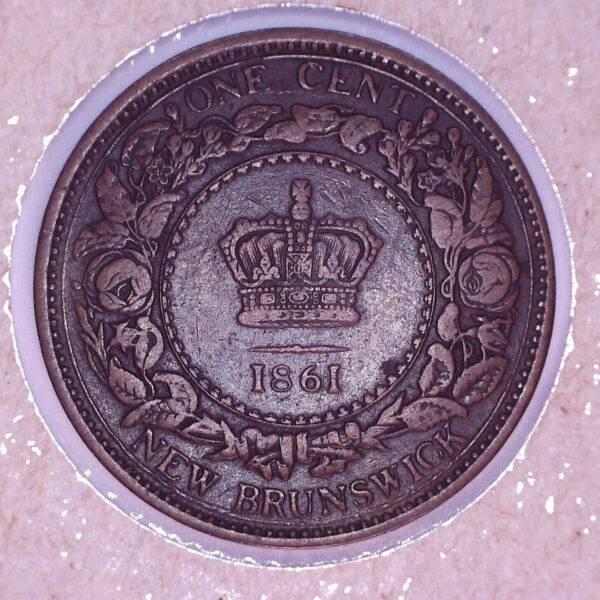 CANADA - 1 Cent 1861 Nouveau-Brunswick - VF-30