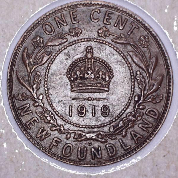 CANADA - 1 Cent 1919C - Terre-Neuve - VF-30