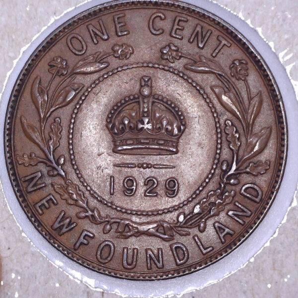 CANADA - 1 Cent 1929 - Terre-Neuve - EF-40