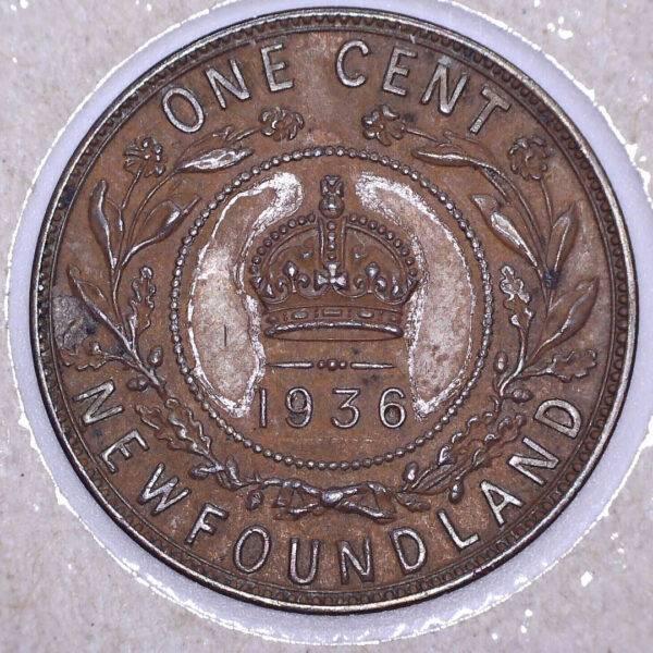 CANADA - 1 Cent 1936 - Terre-Neuve - EF-40