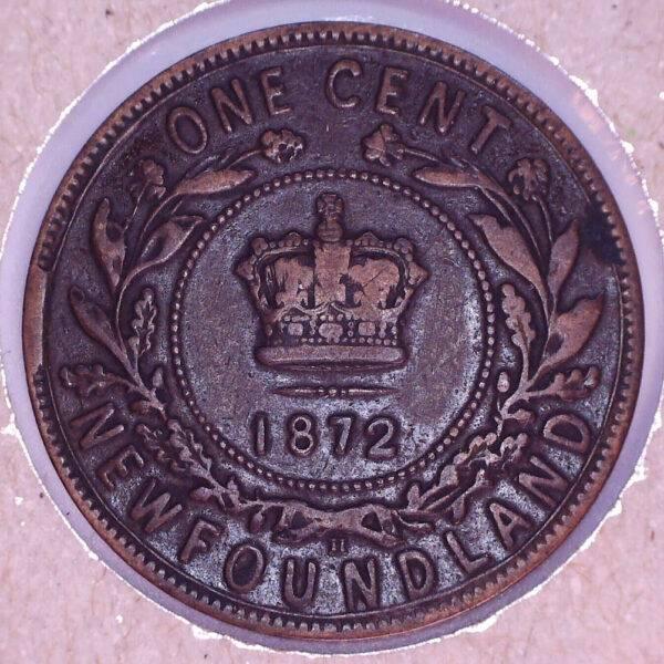 CANADA - 1 Cent 1872H - Terre-Neuve - F-15