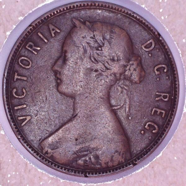 CANADA - 1 Cent 1876H - Terre-Neuve - F-15
