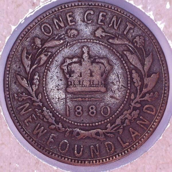 CANADA - 1 Cent 1880 - Round 0 - Low 0 - Terre-Neuve - VG-10