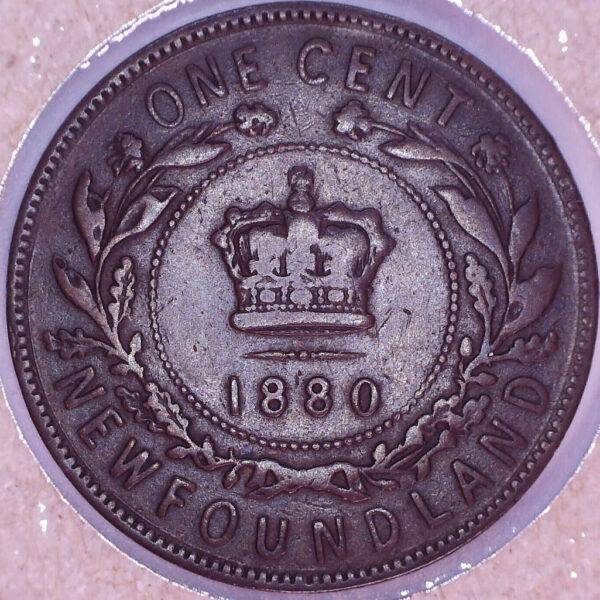 CANADA - 1 Cent 1880 - Oval-0 - Terre-Neuve - F-12