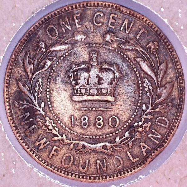 CANADA - 1 Cent 1880 - Round 0 - Even 0 - Terre-Neuve - VF-20