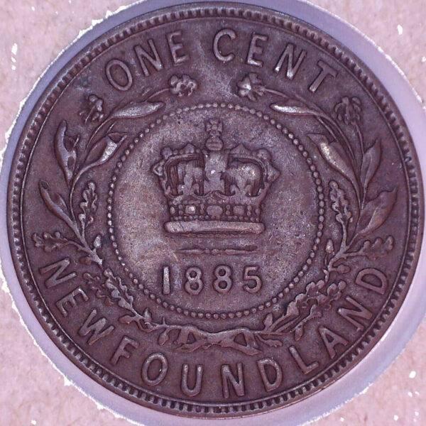 CANADA - 1 Cent 1885 - Terre-Neuve - VF-20