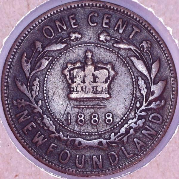 CANADA - 1 Cent 1888 - Terre-Neuve - VG-8