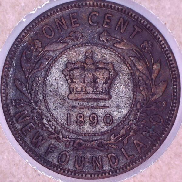 CANADA - 1 Cent 1890 - Terre-Neuve - F-12