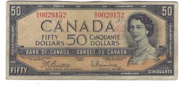 CANADA 50 DOLLARS 1954