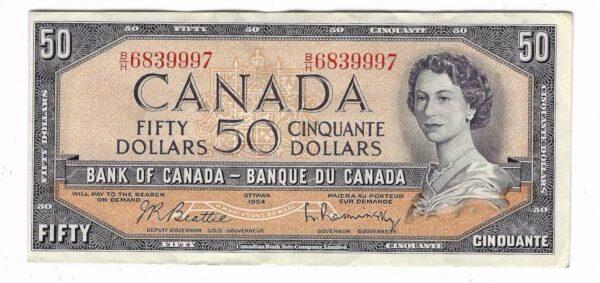 CANADA - 50 Dollars 1954
