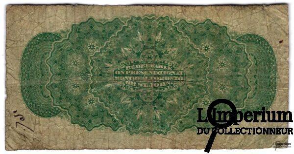 CANADA - Billet de 25 Cents 1870 - Dickinson/Harington