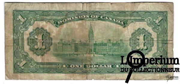 CANADA - Billet de 1 Dollar 1917 - Hyndman/Saunders