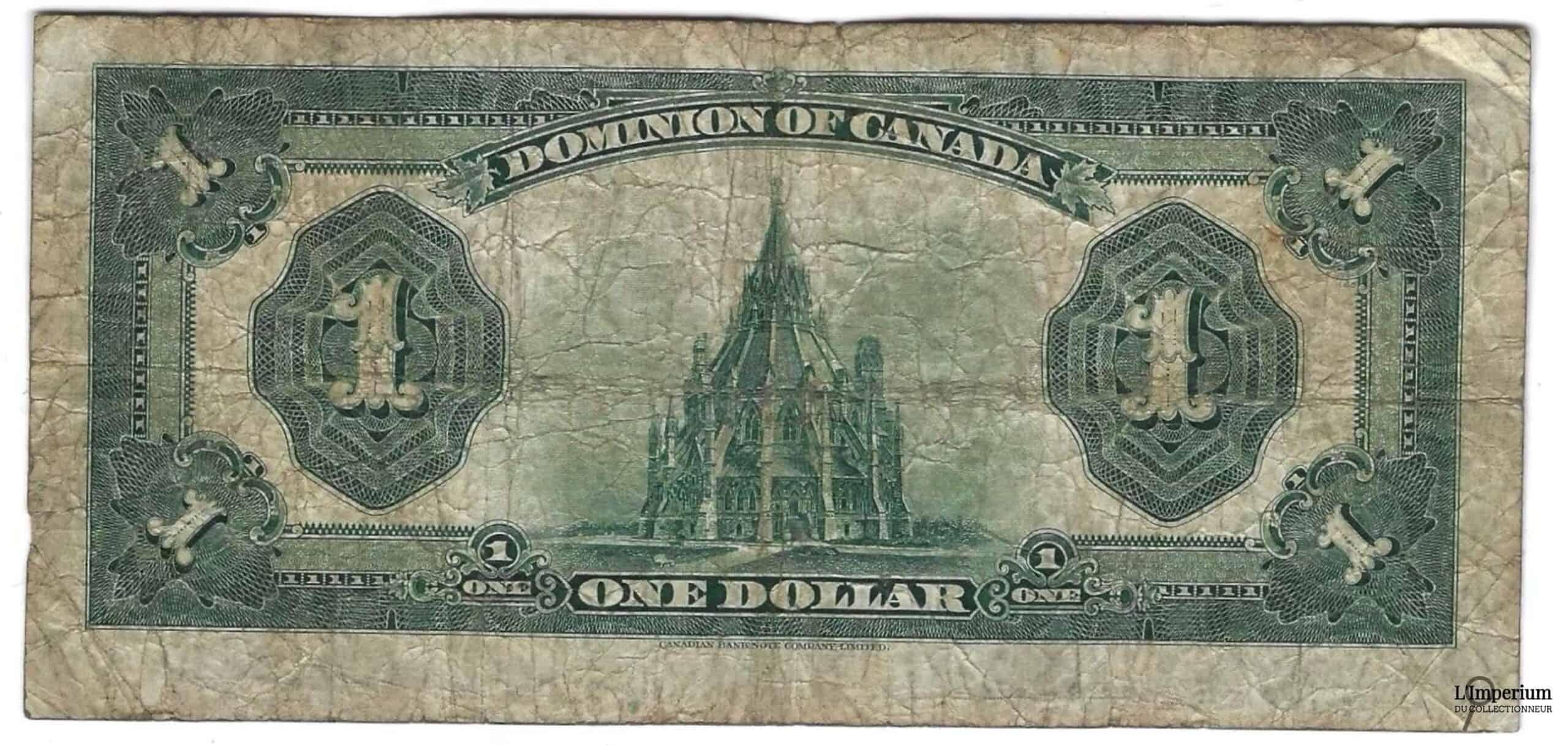 CANADA - Billet de 1 Dollar 1923 - Campbell/Sellar