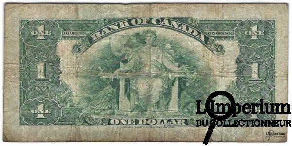 CANADA - Billet 1 Dollar 1935 - Osbourne Towers - BC-1