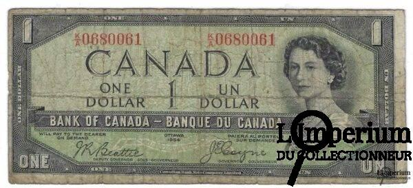 CANADA - Billet d'un Dollar 1954 - Coyne/Towers - DEVIL'S FACE