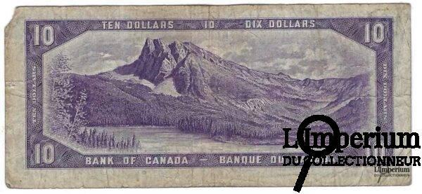 CANADA - 10 Dollars 1954 - Coyne-Towers - DEVIL'S FACE